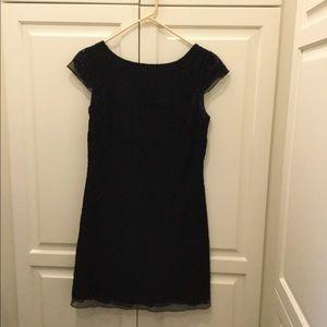 Lilly Pulitzer mini black lace dress